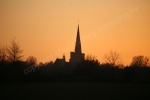 SUNSET OVER WINWICK CHURCH